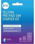 Telstra $10 Prepaid Sim Starter Kit for $6 @ Harvey Norman