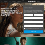 Win 1 of 160 Double Passes to The Premiere of Tomb Raider Worth $100 from Roadshow [NSW/QLD/VIC/WA]