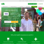 NIB Health Insurance - Join Any Hospital+Extras Cover and Get $200 Visa e-GiftCard