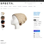 Unisex Winter Skull Knitted Hat for $13 (Was $19) Shipped @ Specta