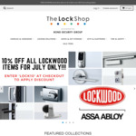10% off All LOCKWOOD Products @ Thelockshop.com.au for July Only