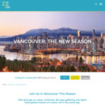 Win a Holiday in Vancouver for 2 Worth $5,150 from Tourism Vancouver [Except ACT/SA]