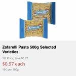 Zafarelli Pasta 500g Varieties $0.97 ea @ IGA