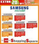 Samsung EVO Plus Micro SD 32/64/128/256GB for $14.36/$21.80/$42.36/$87.92 Delivered @ Shopping Square eBay