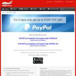 Webjet Flight Booking: $50 off $750 | $100 off $1500 via PayPal