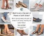 Win 1 of 10 Pairs of Planet or Earth Shoes from Planet Shoes Australia