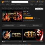 [PC] Steam - Star Wars: Knights of the Old Republic 1+2 - $4.69 AUD - Fanatical