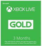 Xbox Live Gold 3 Months $20.40 (Was $34) @ EB Games