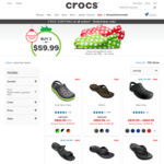 2 Pairs of Selected Styles for $59.99 Delivered @ Crocs
