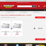 2x SCA 4-Outlet Powerboard with Switches and Surge Protection $23 (Was $18 for 1) C&C @ Supercheap Auto