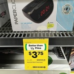 [VIC] Paperclick Alarm Clock Radio $3.75 (Reduced from $15) @ Woolworths, Mount Waverly