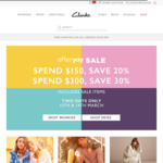Afterpay Sale: Spend $150/$300 & Receive 20%/30% off (Includes Sale Items) @ Clarks)