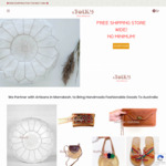 20% off Leather Kilim Bags, Morroccan White Leather Pouf, Raffia Bags & More + Free Shipping @ eFOLKY
