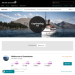 Melbourne to Queenstown, NZ Return from $254, Sydney to Wellington from $291 (Jul and Aug Dates) on Air New Zealand