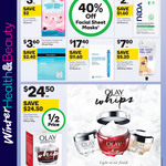 1/2 Price All Olay, 40% off Sheet Masks (Excluding Garnier) @ Woolworths