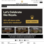 10% off Store Wide + Free Shipping in Melbourne Metro over $100 @ Royal Nut Company