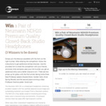 Win 1 of 3 Pairs of Neumann NDH20 Headphones Worth $729 from Mannys