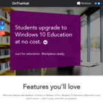 Free Windows 10 Education for Students (Even after You Graduate) @ OnTheHub