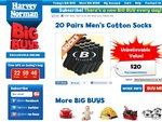 Mens Socks Socks Socks! $20 for 20 Pairs + Delivery Harvey Normans Big Buys