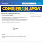 "[VIC] ""Come from Away"" Free Seating Upgrade for Select Performances 1-15 November (Ticket from $65 + Booking Fee) @ Ticketmaster"