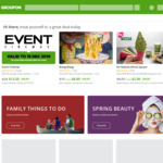 10% off Sitewide (Max discount $40) @ Groupon