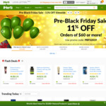 iHerb Pre Black Friday Sale 11% off (Orders over $60USD)