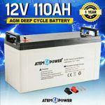 ATEM POWER 12V 110AH AGM Deep Cycle Battery $178.45 Delivered @ Sunyee-Au eBay