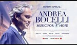 "Andrea Bocelli ""Music for Hope"" Easter Sunday Free Concert Live-Streamed Worldwide from Milan (Italy)"