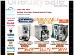 Delonghi Coffee Machines - 4 Unbeatable Prices - from $629 - Free Shipping