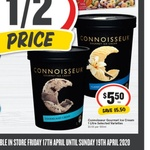 ½ Price Connoisseur Ice Cream Varieties 1L $5.50 @ IGA (Selected Stores Only)