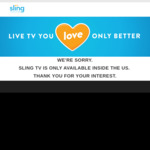 Free Access to Sling TV Blue Plan - Daily between (5pm EST - Midnight US TIME) - VPN Required