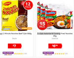Maggi Beef Noodles 12pk $7; Indomie Mi Goreng 3×5pk $6.99 + Delivery ($0 with Club + $45 Spend) @ Catch