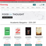 25% off Academic Books + Shipping (Free over $99) @ Koorong