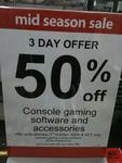 50% off All Games & Accessories at Myer - PS3, Wii, Xbox etc
