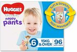 Huggies Ultra Dry Nappy Pants Girls & Boys (4, 5 and 6) Bulk Packs $34 + Delivery ($0 with Prime/ $39) @ Amazon AU