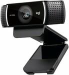 Logitech C922 Pro Stream HD Webcam - Black $164 + $15 Shipping (HK) @ Tecobuy