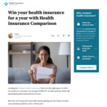 Win Your Health Insurance for a Year from Health Insurance Comparison