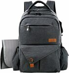 15% off Nappy Bag Multi-Function Large Baby Backpack with Stroller Straps Changing Pan $58.64 Delivered @ Haptim Amazon AU