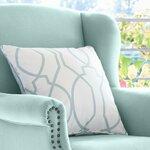 Hamptons Style Sea Mist Trellis Cushion $29 (Was $99) + Shipping @ Lavender Hill Interiors