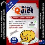 SleepQuiet Nasal Strips (264pk) $39.99 Delivered (30% off) / 44pk $9.79 (Save $4.00)+Includes Free Sample @ SleepQuiet Amazon AU