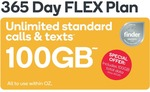 SMALL 365 Days FLEX 100GB 365 Days $135 New and Existing Customers @ Kogan Mobile