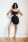 Open Back Drawstring Ruched Satin Dress US$21.60 (~A$28) Delivered @ MyDresslily