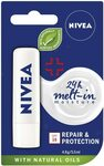 NIVEA Lip Balm Repair & Protection with SPF15+ 4.8g $1.79 ($1.61 S&S) + Delivery ($0 with Prime/ $39 Spend) @ Amazon AU