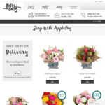 $14.95 off Postage with Apple Pay @ Roses Only, Hampers Only, Fruit Only, Wine Only
