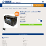Endurant Loadmaster 12V 750CCA 4WD Battery for $115.50 + Delivery @ Truckline