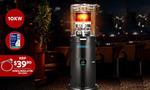 Devanti Gas Patio Outdoor Heater Propane Butane LPG Steel Black $319 Delivered @ Direct On Sale