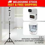 Automatic Sanitiser Dispenser & Infrared Thermometer w/ Adjustable Tripod Stand Station $64.35 Delivered @ Gosuperspecial eBay