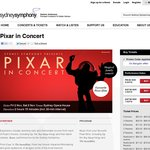 2 for 1 Tickets to Pixar in Concert, Presented by Sydney Symphony
