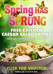Voucher: Free Chicken Caesar Salad Entree with any 2 meals over $15 at 99 Venues in VIC,NSW,TAS