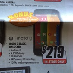 Moto G $219 + FREE Norton 360 5 Users + $40 Cashback ($199 w/ $20 Voucher QLD) at The Good Guys